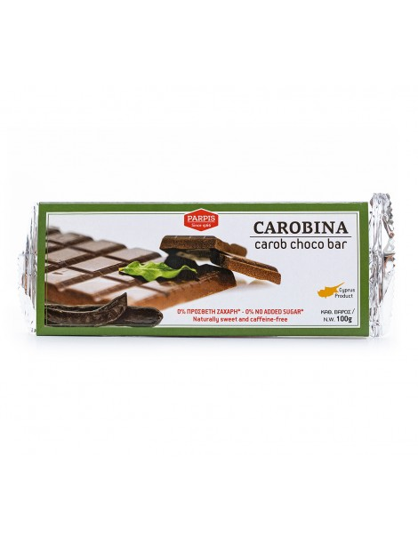 Carobina (Carob Choco Bar - 300gr) (no sugar added)
